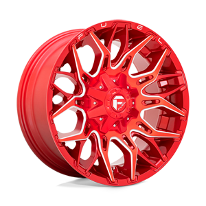 Fuel 1-Piece Wheels Twitch - D771 6 Candy Red & Milled