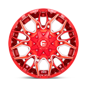 Twitch - D771 Candy Red & Milled 6 lug