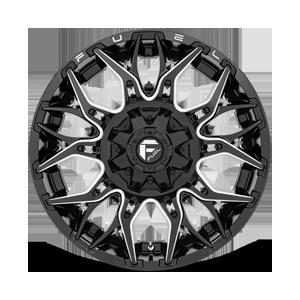 Twitch - D769 Gloss Black Milled 6 lug