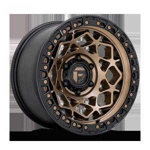 Fuel 1-Piece Wheels Unit - D785 6 Matte Bronze w/ Black Ring