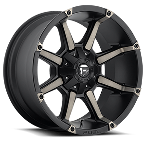 Fuel 1-Piece Wheels Coupler - D556 8 Black & Machined with Dark Tint