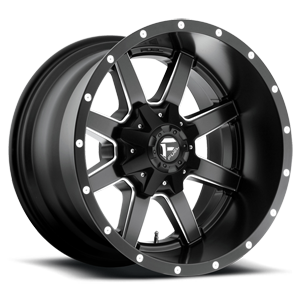 Fuel 1-Piece Wheels Maverick - D538 5 Black & Milled