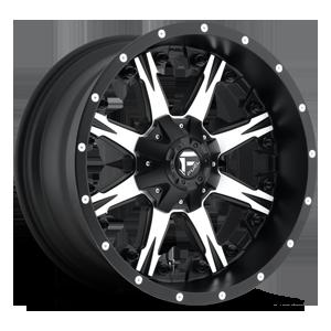 Fuel 1-Piece Wheels Nutz - D541 5 Black & Machined
