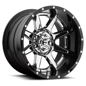 Fuel 2-Piece Wheels Rampage - D247 6 Chrome Center and Gloss Black Outer