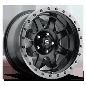 Fuel 1-Piece Wheels Trophy - D551 5 Matte Black w/ Anthracite Ring