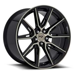 Niche Sport Series Gemello - M219 5 20x10.5 | Gloss Black & Machined DDT