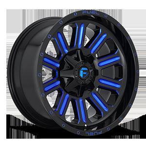 Fuel 1-Piece Wheels Hardline - D646 6 Gloss Black w/ Candy Blue