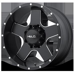 Helo Wheels HE886 8 Satin Black w/ Milled Spokes & Flange