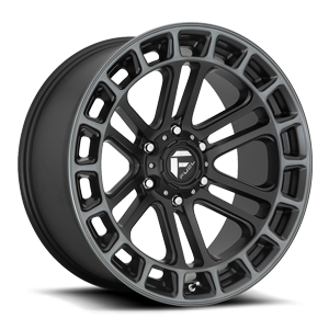 Fuel 1-Piece Wheels Heater - D720 6 Matte Black/Machined/DDT
