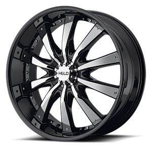 HE875 Gloss Black w/ Chrome Accents 5 lug