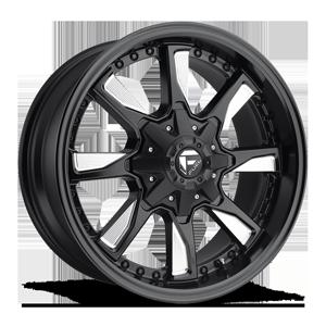 Fuel 1-Piece Wheels Hydro - D603 5 Matte Black & Milled