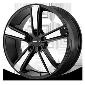 Helo Wheels HE899 5 Satin Black w/ Gloss Black & Chrome Inserts