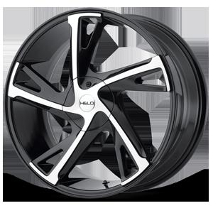 Helo Wheels HE902 5 Gloss Black Machined