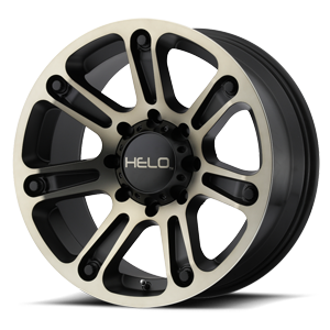 Helo Wheels HE904 8 Satin Black Machined w/ Dark Tint Clear Coat