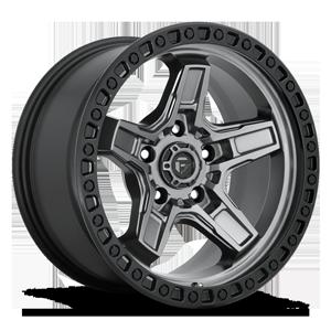 Fuel 1-Piece Wheels Kicker 5 - D698 5 Anthracite Center w/ Black Lip