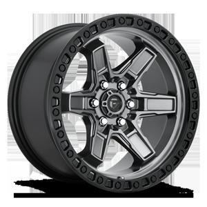 Fuel 1-Piece Wheels Kicker 6 - D698 6 Anthracite w/ Black Lip