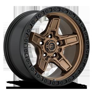 Fuel 1-Piece Wheels Kicker 5 - D699 5 Bronze Center w/ Black Lip
