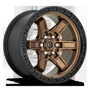 Fuel 1-Piece Wheels D699 KICKER 6 6 Bronze Center w/ Black Lip