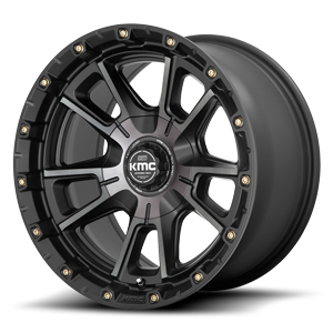 KMC Wheels KM100 - Sync 6 Satin Black Machined w/ Gray Tint