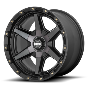 KMC Wheels KM101 - Signal 6 Satin Black w/ Grey Tinted Clear Coat