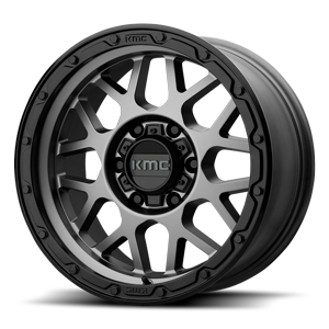 KMC Wheels KM535-Grenade 6 Matte Gray w/ Black Ring