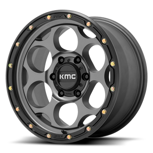 XD Wheels KM541 Dirty Harry 6 Satin Gray with Black Ring