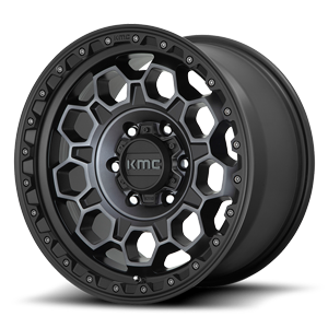 KMC Wheels KM545-Trek 6 Satin Black Machined w/ Gray Tint