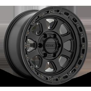 KMC Wheels KM548 Chase 6 Satin Black w/ Satin Black Ring