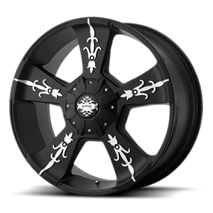 KM668 VANDAL Matte Black Machined 8 lug
