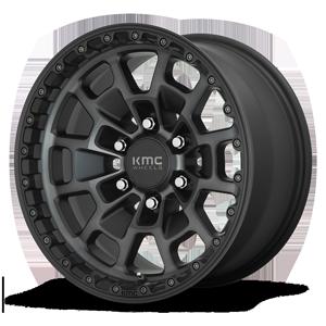 KMC Wheels KM718 Summit 6 Satin Black Machined w/ Gray Tint