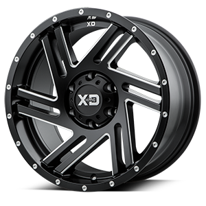 XD Wheels XD835 Swipe 6 Satin Black Milled