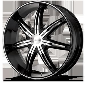 KMC Wheels KM665 Surge 5 Gloss Black Machined