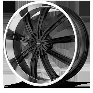 KMC Wheels KM672 Widow 6 Gloss Black w/ Machined Face