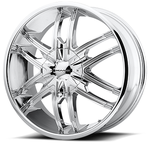 KM678 Splinter Chrome 6 lug