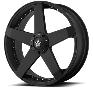 KMC Wheels KM775 Rockstar Car 5 Matte Black