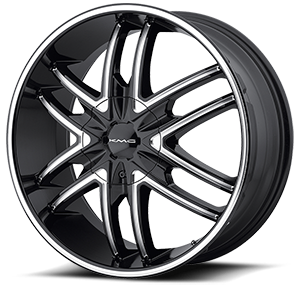 KM678 Splinter Gloss Black 6 lug