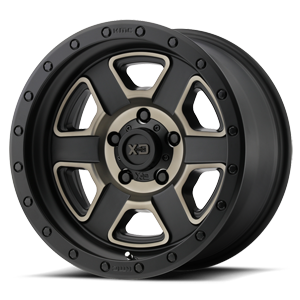 XD Wheels XD133 Fusion Off-Road 5 Satin Black Machined w/ Dark Tint Clear Coat