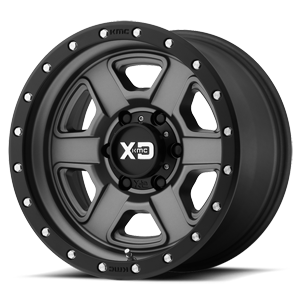 XD Wheels XD133 Fusion Off-Road 6 Satin Gray w/ Satin Black Lip