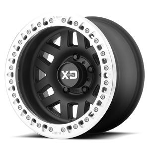 XD Wheels XD229 Machete Crawl 5 Satin Black w/ Machined Lip