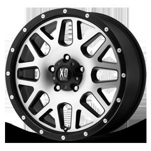 XD Wheels XD820 Grenade 5 Satin Black w/ Machined Face