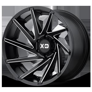 XD Wheels XD834 Cyclone 6 Satin Black Milled