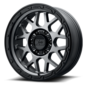 XD Wheels XD135 Grenade OR 6 Matte Grey w/ Matte Black Lip