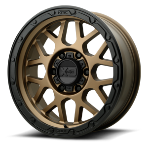 XD Wheels XD135 Grenade OR 6 Matte Bronze with Black Lip