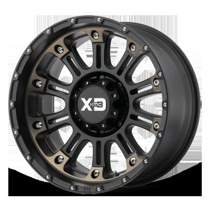 XD Wheels XD829 Hoss II 8 Satin Black Machined w/ Dark Tint Clear Coat