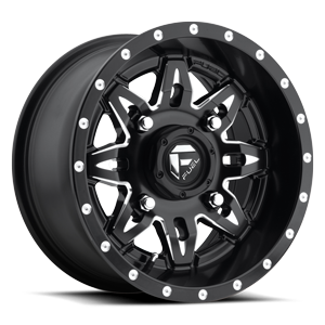 Fuel UTV Wheels Lethal - D567 - UTV 4 Black & Milled