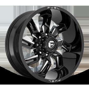 Fuel 1-Piece Wheels Lockdown - D747 8 Gloss Black & Milled