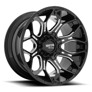MO808 Sniper Gloss Black Milled 6 lug