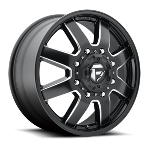 D538 MAVERICK - Dually Front Black & Milled 8 lug