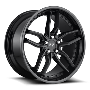 Methos - M194 Satin Black/Gloss Black 5 lug