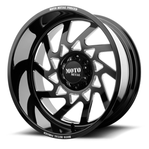 MO403 Gloss Black Milled 8 lug